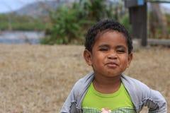 Счастливый мальчик острова Стоковые Фотографии RF