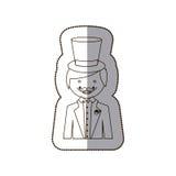 счастливый мрак с значком костюма иллюстрация штока