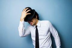 Счастливый мужской джаз и танцор кабара Стоковая Фотография RF