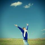 счастливый напольный подросток Стоковая Фотография RF