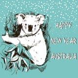 Счастливый Новый Год Австралия Стоковое Изображение