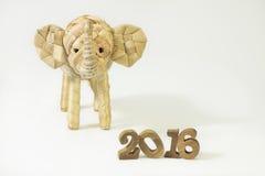 Счастливый Новый Год 2016 на белой концепции предпосылки Стоковые Фотографии RF