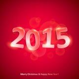Счастливый Новый Год 2015 на красной предпосылке Стоковое фото RF