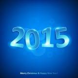 Счастливый Новый Год 2015 на красной предпосылке Стоковые Изображения