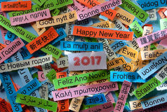 Счастливый Новый Год на различных языках стоковые фото