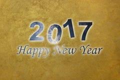 Счастливый Новый Год 2017 Новый Год предпосылки счастливое ночное небо молнии иллюстрации абстракции Стоковое Изображение