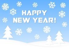 Счастливый Новый Год! Поздравительная открытка иллюстрация штока
