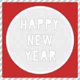 Счастливый Новый Год приветствуя card1 Стоковое Изображение