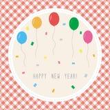Счастливый Новый Год приветствуя card2 Стоковые Изображения