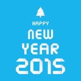 Счастливый Новый Год 2015 приветствуя card1 Стоковая Фотография