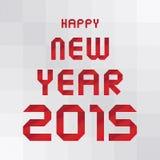 Счастливый Новый Год 2015 приветствуя card3 Стоковые Изображения