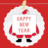Счастливый Новый Год приветствуя card7 Стоковое фото RF