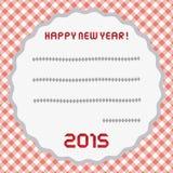 Счастливый Новый Год 2015 приветствуя card10 Стоковые Изображения