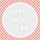 Счастливый Новый Год приветствуя card4 Стоковое Изображение RF