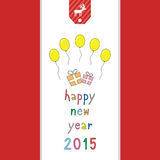 Счастливый Новый Год 2015 приветствуя card21 Стоковые Изображения