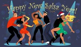 Счастливый Новый Год сальсы Стоковое фото RF