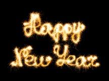 Счастливый Новый Год сделанный sparkles стоковая фотография rf