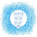 счастливый новый год текста Стоковое фото RF