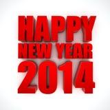Счастливый Новый Год 2014 иллюстрация вектора