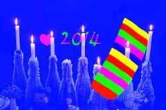 Счастливый Новый Год 2014 Стоковое Изображение RF