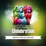 Счастливый Новый Год 2015 Стоковое Фото