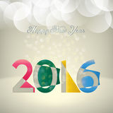 Счастливый Новый Год 2016 Стоковое Изображение