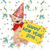 Счастливый Новый Год 2016 Стоковое Изображение RF
