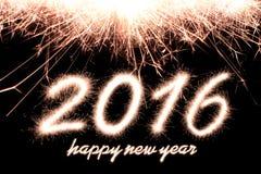 Счастливый Новый Год 2016 Стоковая Фотография RF