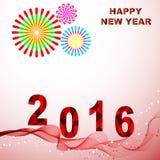 Счастливый Новый Год 2016 Стоковые Фотографии RF