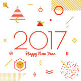 Счастливый Новый Год 2017 Стоковые Изображения