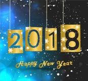Счастливый Новый Год 2018 Стоковое Изображение