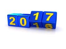 Счастливый Новый Год 2017 Стоковое Изображение RF