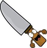Счастливый нож шаржа Стоковые Изображения RF