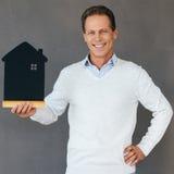Счастливый домовладелец Стоковое фото RF