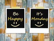 Счастливый, оно понедельник иллюстрация штока