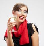 Счастливый отпразднуйте портрет женщины Стоковые Изображения RF