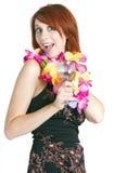 Счастливый отпускник молодой женщины Стоковые Изображения RF