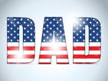 Счастливый папа американца США дня отцов Стоковые Фотографии RF