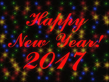Счастливый перевод 3d Нового Года 2017 Стоковое Изображение
