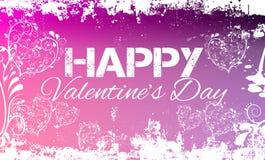 Счастливый пинк Grunge дня валентинок Стоковая Фотография RF
