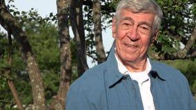 Счастливый пожилой старик Стоковая Фотография