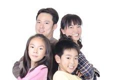 Счастливый портрет семьи Стоковые Изображения RF