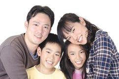 Счастливый портрет семьи Стоковое Изображение RF
