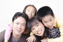 Счастливый портрет семьи Стоковые Фото