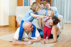 Счастливый портрет семьи Стоковая Фотография