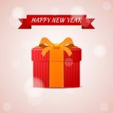 Счастливый подарок конспекта Нового Года Стоковая Фотография