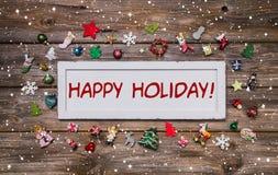 Счастливый праздник - карточка рождества поздравительная в другом цвете Стоковое Фото
