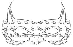 Счастливый праздник - маска белки леса с гайками Стоковые Изображения RF