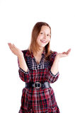 Счастливый предназначенный для подростков представлять девушки Стоковая Фотография RF