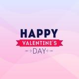 Счастливый плакат вектора иллюстрации карточки дня валентинок Стоковые Фото